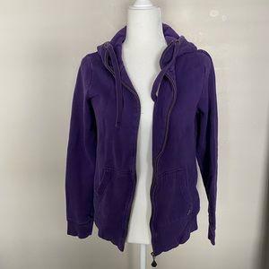 Purple medium Volcom zip up sweatshirt